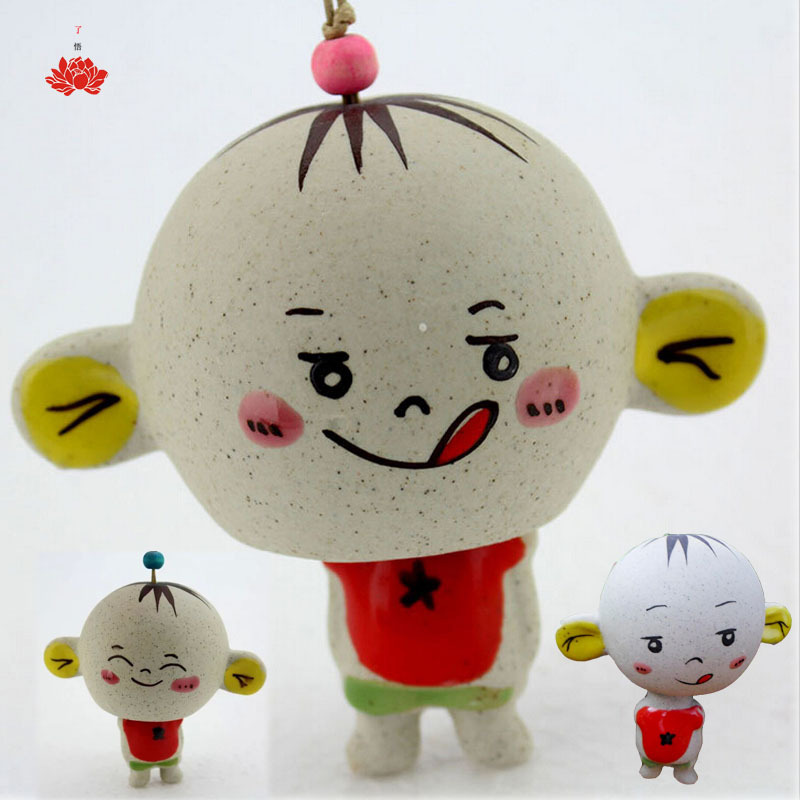 Magic Boy Cartoon Dolls Cute Baby Decor Doll Porcelain Doll Hanging Campanula Ethnic Dolls Toy Can Turned Hiding in Head Toys(China (Mainland))