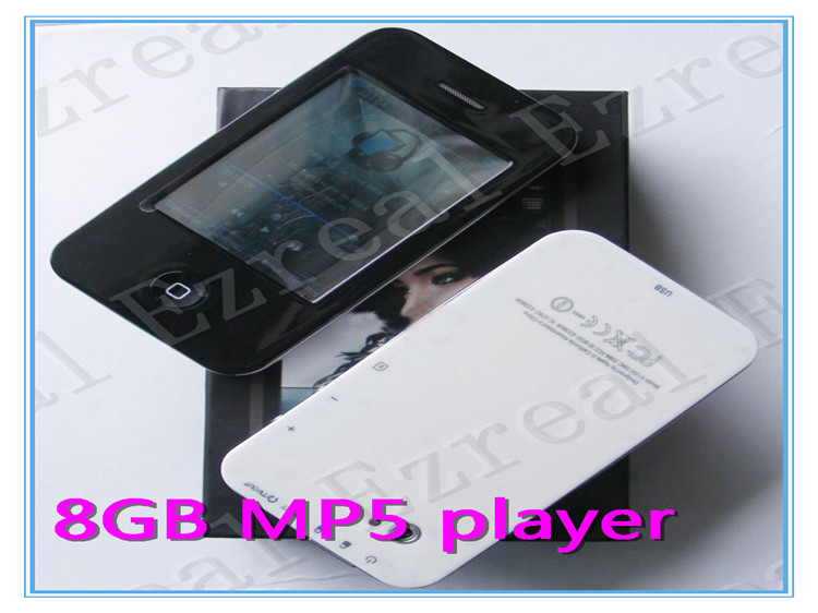 "2.8"" Newest Touch Screen MP4 MP5 Player 8GB Support Multi Languages High Quality Large Supply 300PCS FREE SHIPPING(China (Mainland))"