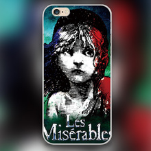 For Les Miserables art Design black skin case cover cell mobile phone cases for Apple iphone 4 4s 5 5c 5s 6 6s 6plus hard shell