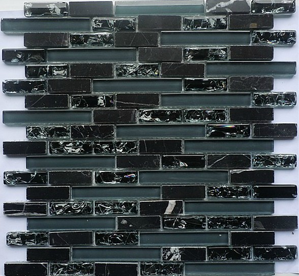 black glass mosaic tile backsplash sgmt065 grey stone