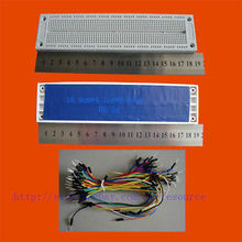 Buy 760 Point Solderless PCB Breadboard SYB 130 Jumpwires 65 wires for $2.99 in AliExpress store