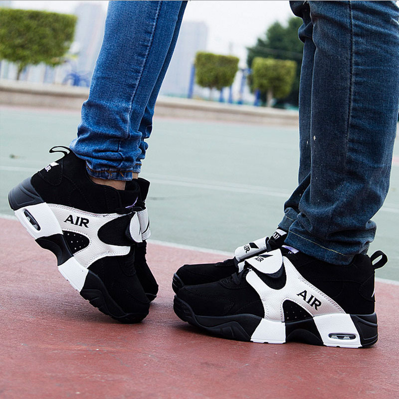 Fashion Couple air cushion wedge sneakers women/men casual sprot shoes hot platform shoes Rubber soles woman size(China (Mainland))