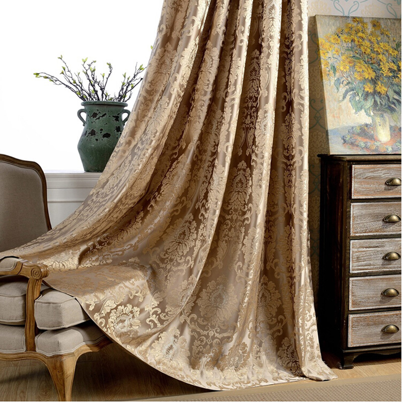 Firefly Jacquard window curtains heavy fabric high quality with silver wire embed 60% shading for livingroom floral ivory color(China (Mainland))