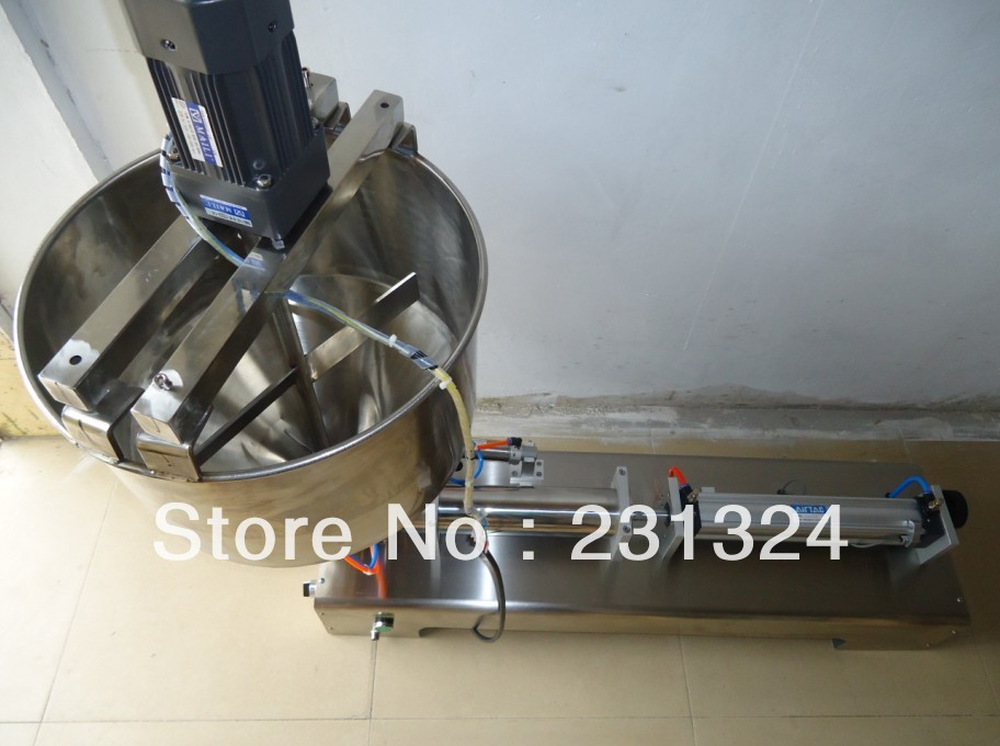 Pneumatic Liquid Paste filling machine mxing shampoo,cosmetic,juice,toothpaste, stainless steel - Lyly L's store