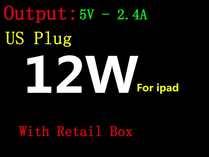 100 шт. 5V-2.4A 12 Вт США Подключите USB Источник Питания ПЕРЕМЕННОГО Зарядное устройство главная Адаптер Для iPad мини 3 4 воздуха iphone se 6 5S 5C 5 6 S С Розничной Коробке