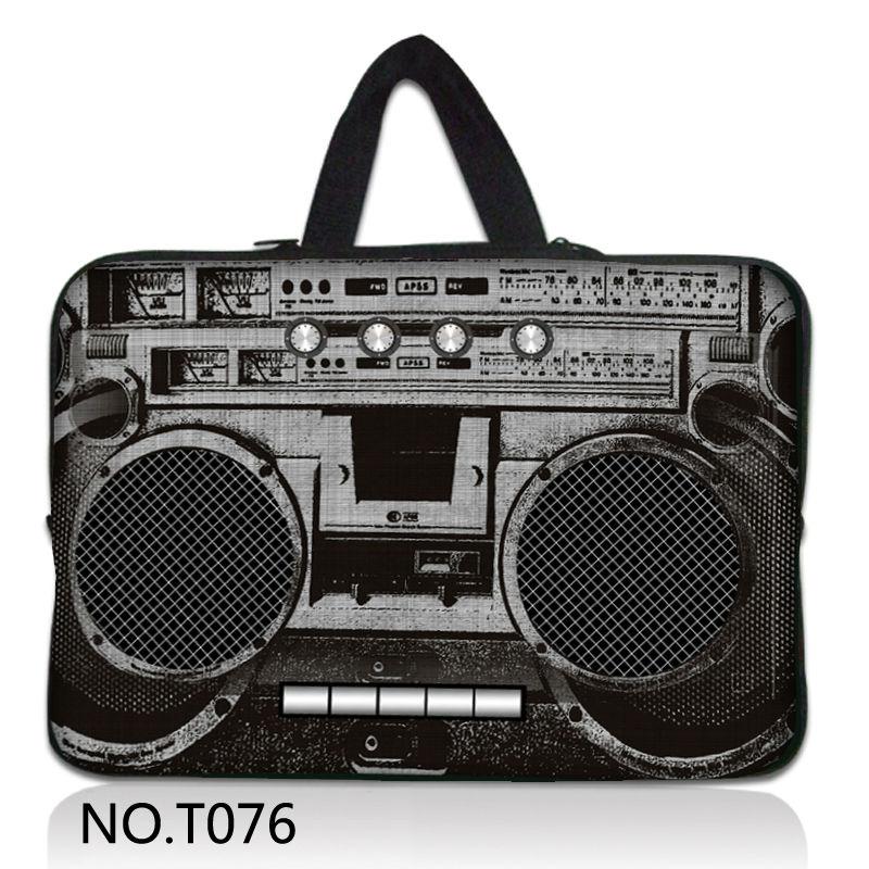 "Stylish Radio recorder 11.6"" 12"" Laptop Sleeve Case Netbook Bag For ASUS HP Acer Thinkpad 12.1 Dell Mini 12 +Handle(China (Mainland))"
