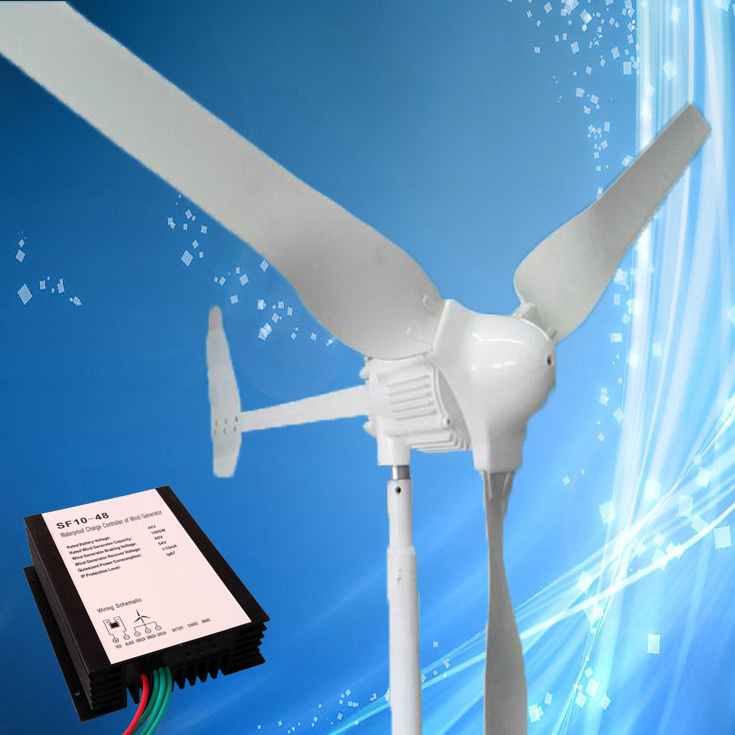 Factory Price Wind Turbine 1KW with Tail Turned Brake, 48V Output, Combine with 1KW/48V Wind Charge Controller,CE Approved(China (Mainland))