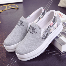 New Womens Flats Shoes 2016 Casual Canvas Espadrilles Channel Valentine Shoes Creepers Platform Shoes Thick Heel Loafers Women(China (Mainland))