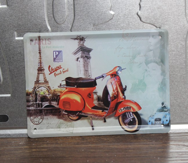 Free shipping Hot sale Wall art decor Motorcycle Metal Tin signs Hot sale poster House Cafe Bar decoration metal painting 8*11CM(China (Mainland))