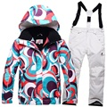 Russian Winter ski jacket girl thicken cotton padded kids skiing jacket and pants set children snow