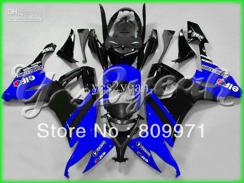 K687 Top Blue Black Fairing KAWASAKI ZX-10R 08-11 ZX 10R 08 09 10 11 ZX10R 2008 2009 2010 2011 - Sunrise Motorcycle Co. Ltd store