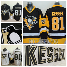 2015 Pittsburgh Penguins camisetas de Hockey 81 Phil Kessel Jersey inicio negro blanco suplente tercero Cheap Phil Kessel cosida Jersey(China (Mainland))