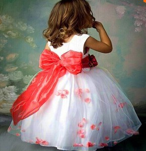 Новые девушки 2015, свадебное платье белый цветок платье девушка моды высокое качество одежды