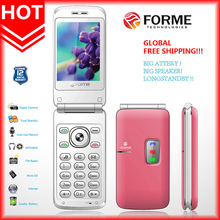 """FORME S900, flip phone, hot model , 2.4 """" LCD , with SOS, family number and big speaker, suitable for aged people specially"""
