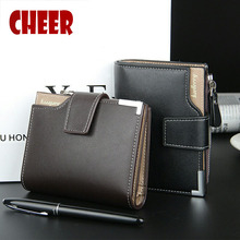 Buy Fashion pu leather Men Short Wallet coin purse men card wallet men luxury brand wallet 3 Fold Male Purse Cards Holder Coin Purse for $5.90 in AliExpress store