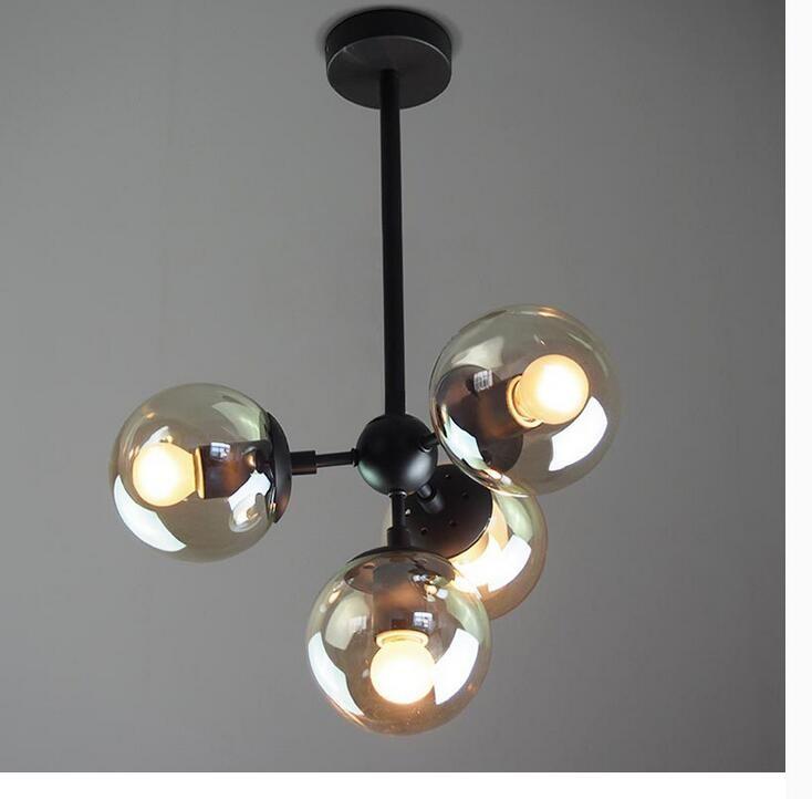 Купить Бесплатная Доставка Северная Европа Люстры Nordic Винтаж Освещение Черный Цвет Подвесной Светильник E27 AC 90 ~ 260 В 100% гарантировано