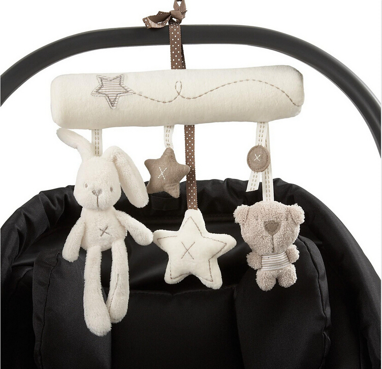 mamas&papas cot hanging toy baby rattle soft plush rabbit musical mobile products - YIWU Googol No. 2 Store store
