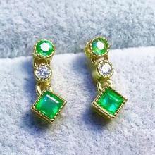 Buy Elegant Colombian emerald earrings SI grade natural emerald dangle solid 925 silver emerald drop earrings tendy emerald jewelry for $49.61 in AliExpress store