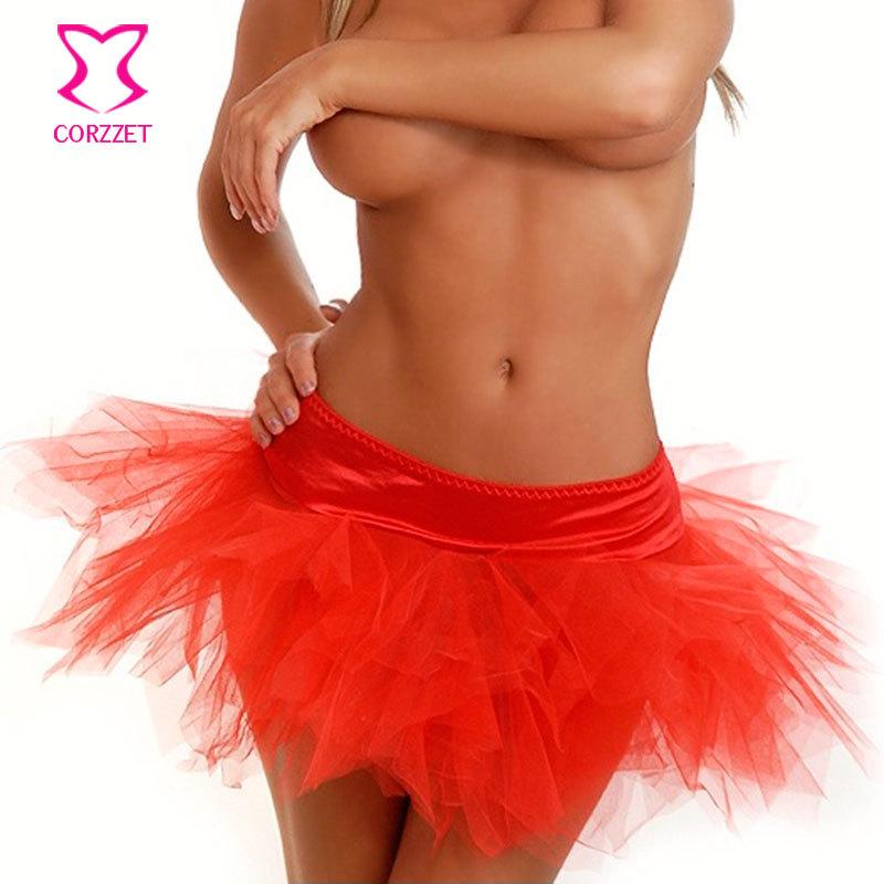 Summer Style Sexy Matching Corset Asymmetrical Skirt Women Tutu Skirts Adults Lace Skirt Slip Burlesque Costume