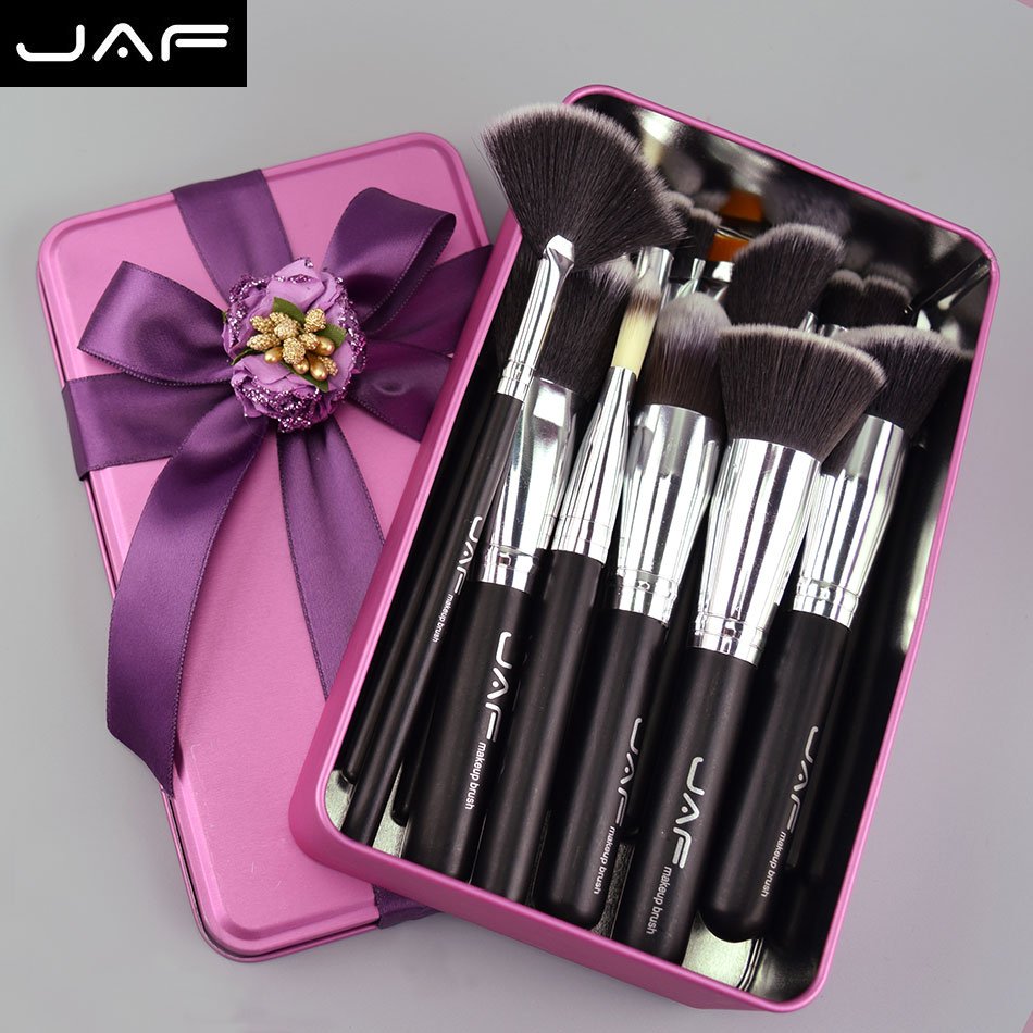 jaf 24 pcs Professional Makeup Brushes Gift Birthday Gifts for mom or girlfriend make up case for nude make up(China (Mainland))