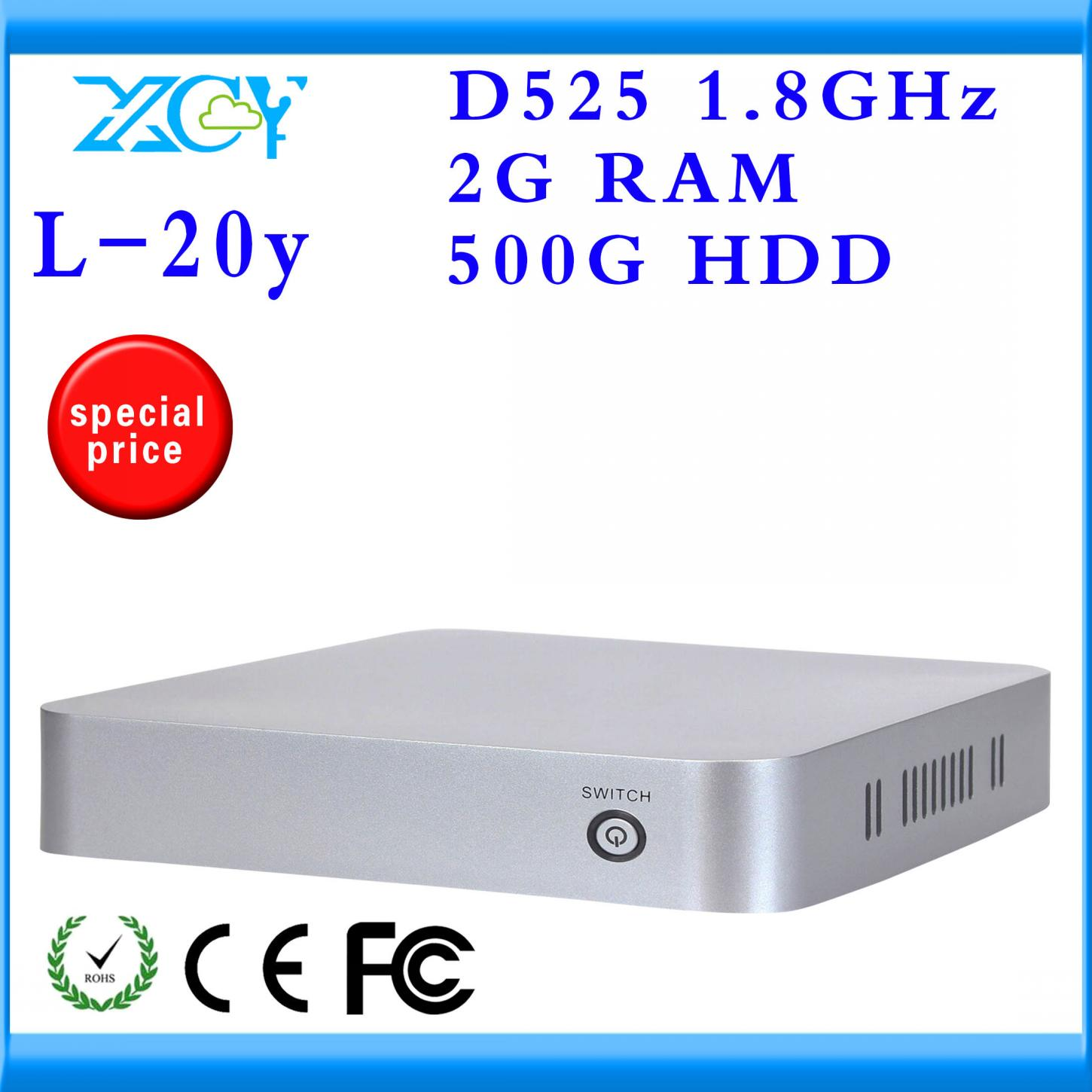 XCY 2013 NEW INTEL D525 Atom Dual-core Big promotion wholesale net computer ultra thin client In Stock ncomputing server(China (Mainland))