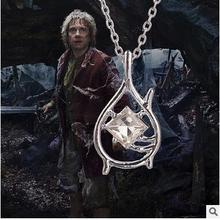 2015 New Hot Movie Jewelry Hobbit Galadriel Fairy Queen Necklace Chain Silver Pendant For Women Cosplay Pendant
