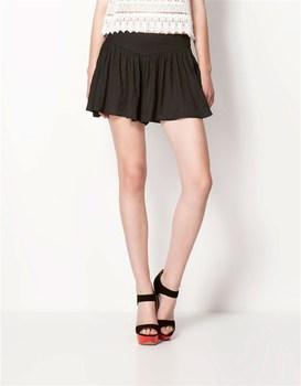2013 new arrival summer chiffon elastic waist skirt casual saias short women elegant skirts pants skirt mini shorts irregular