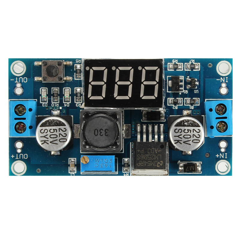 LED LM2596 DC Step Up/Down Adjustable Voltmeter Buck Converter Power Module 4-35V 50 x 37 x 13mm Electric Unit High quality(China (Mainland))