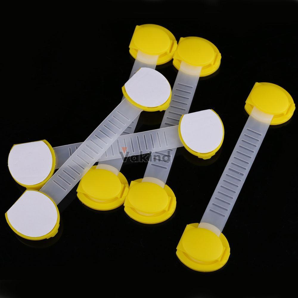V1NF 5pcs Set Baby Child Kids Drawer Cabinet Lock Long Style Safety Lock Yellow(China (Mainland))