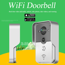 Wifi Wireless Video porteros intercom timbre Peehole cámara inglés / francés PIR IR de visión nocturna de alarma Android IOS Smart Home(China (Mainland))