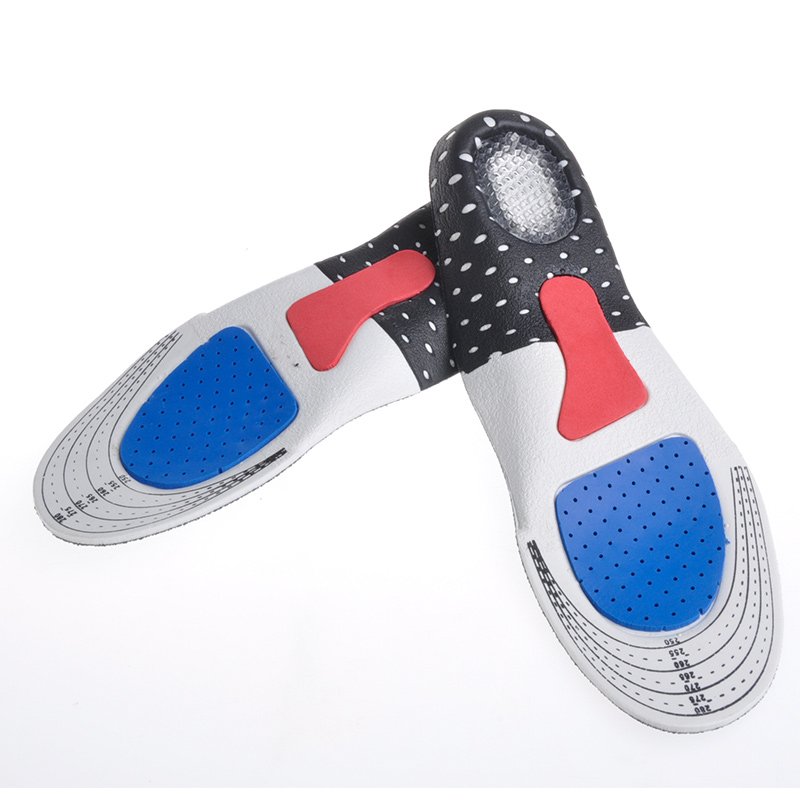 For men and women silicon Gel Insoles Foot Care for Plantar Fasciitis Heel Spur Running Sport Insoles Shock Absorption Pads(China (Mainland))