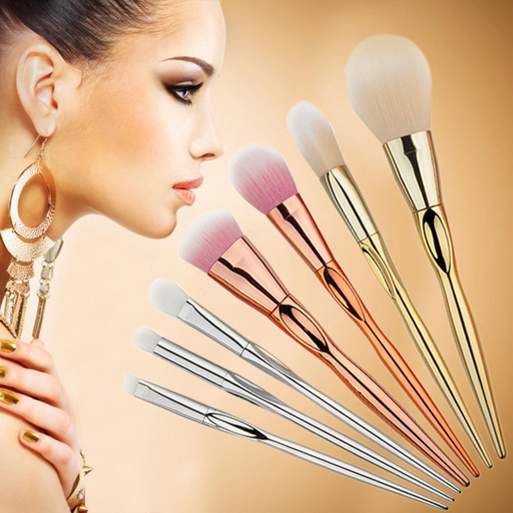 7pcs Soft Makeup Brushes Set Plastic Handle Make up Brush Powder Foundation Concealer Blush Eyeshadow Cosmetic Beauty Tools(China (Mainland))