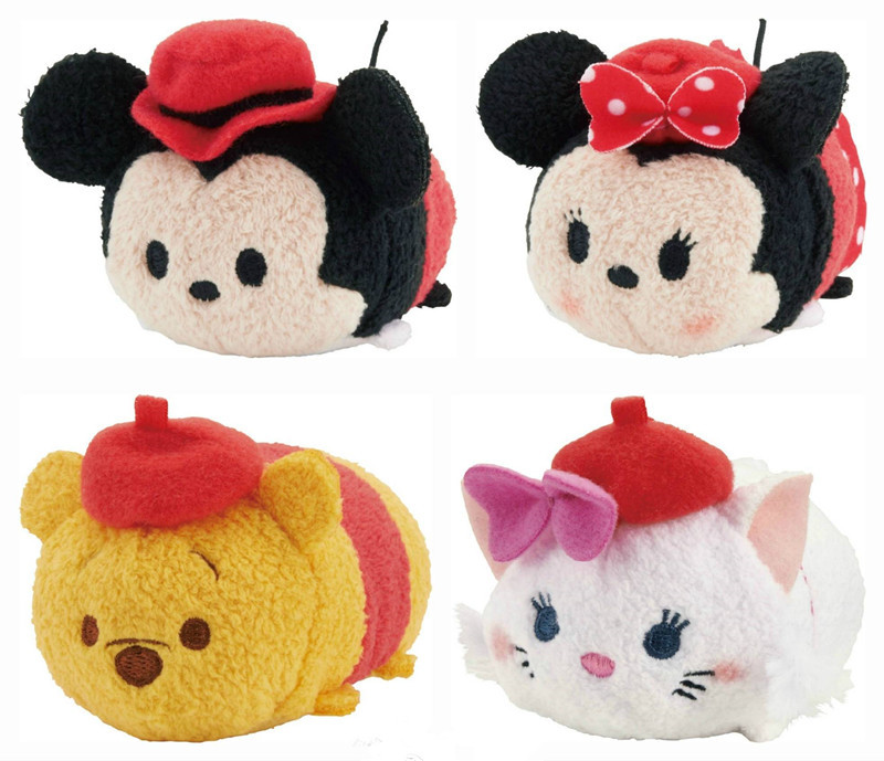 Hot Sale! 1pcs/lot Tsum Tsum UNIQLO Cheshire Cat Dumbo Plush doll mini Toy Baby doll Phone Accessories Screen Wipe Protector(China (Mainland))
