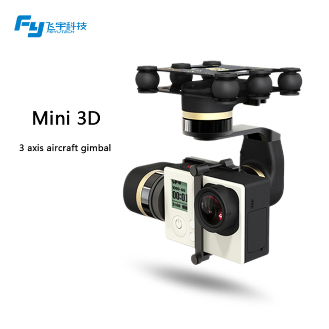 FeiyuTech official store ! 3 axis brushless gimbal FY-Mini 3D brushless gimbal for aircraft