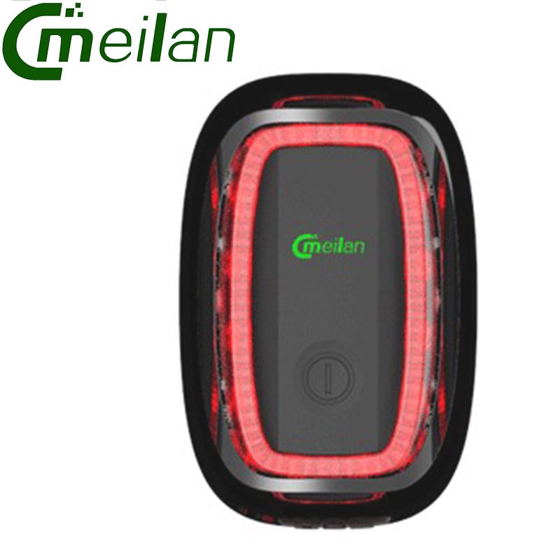 Usb Bicycle Tail lamp Bike Taillight Safety Tail Lights LED Meilan X6 Smart bike led light(China (Mainland))