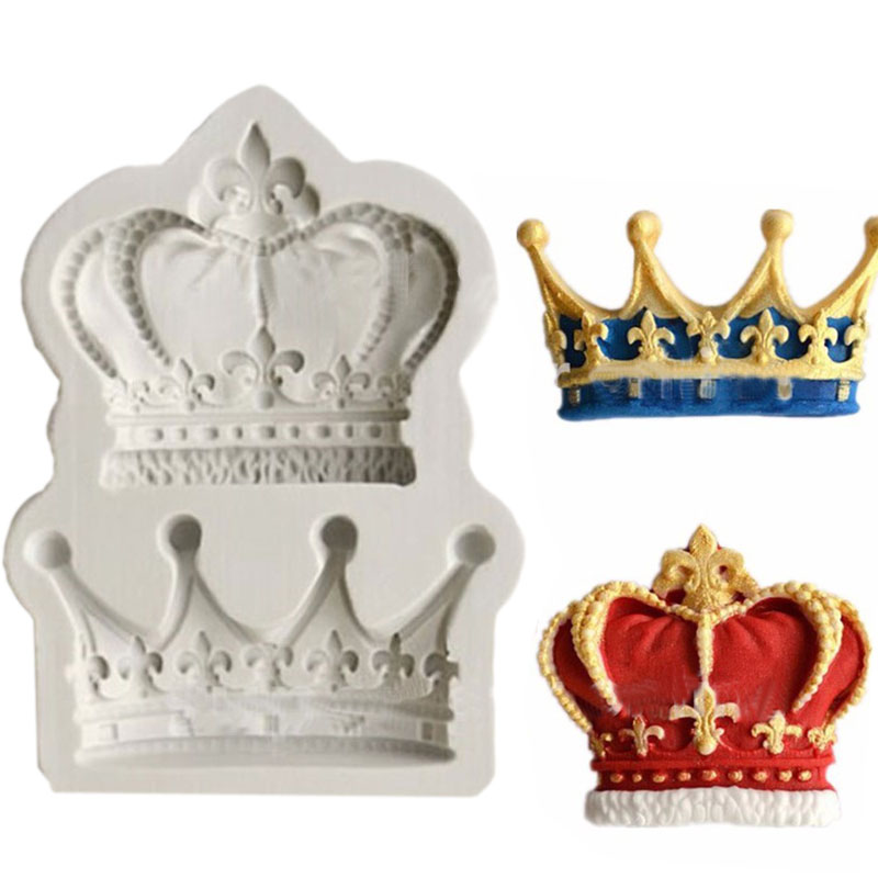 Crowns from Princess Queen 3D Silicone Mold Fondant Cake Cupcake Decorating Tools Clay Resin Candy Fimo Super Sculpey F0761(China (Mainland))