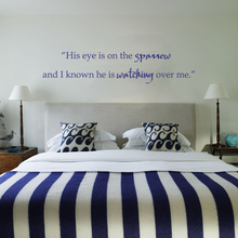 """Buy Eye Sparrow know watching Vinyl Wall Decal Inspirational Quote Bible Saying 22"""" x5"""" for $9.17 in AliExpress store"""