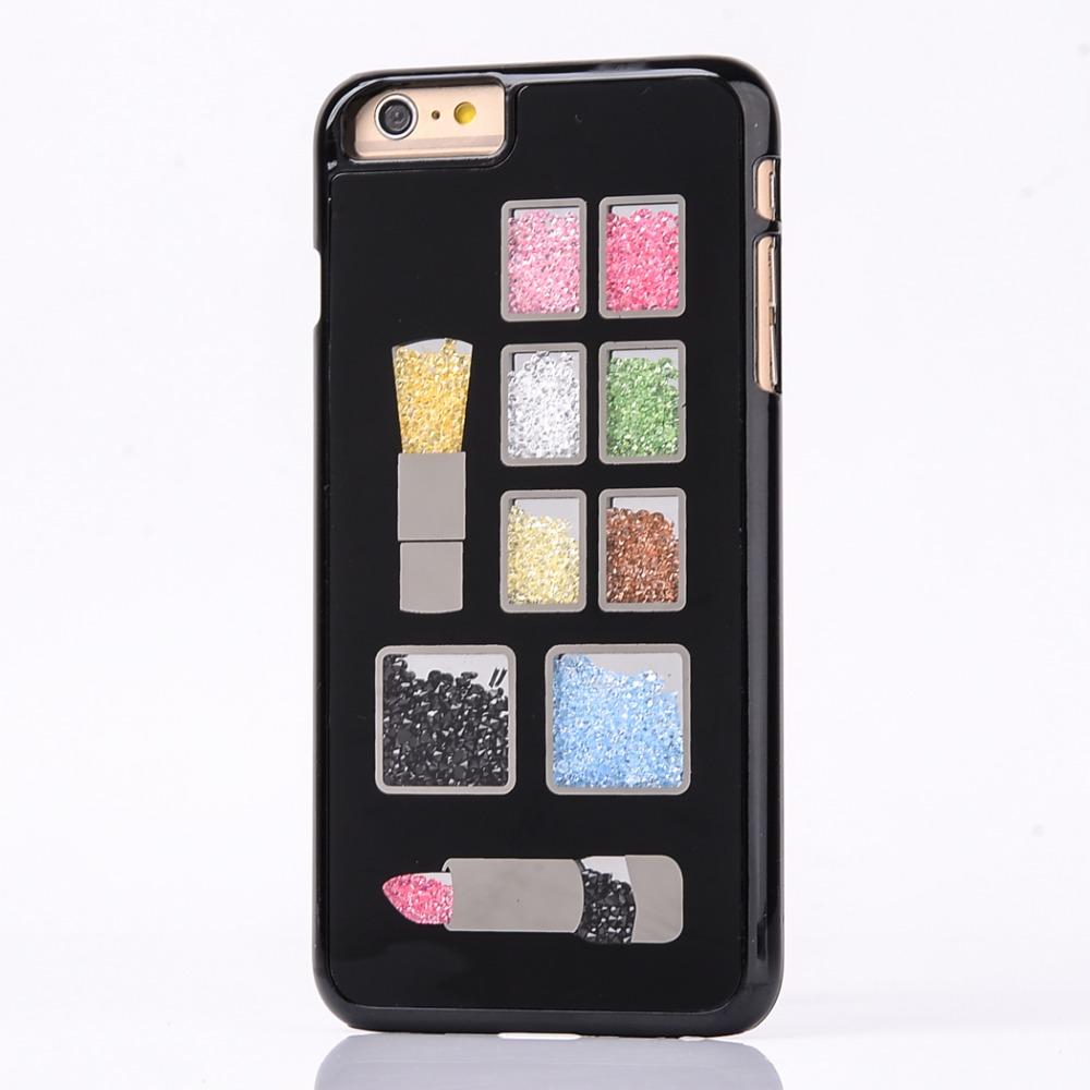 Fashion UK Flag Rainbow Diamond Heart Make Up Eye Shadow Phone Cases For Apple iPhone 6S Plus 6 Plus 5.5 Inch 24 Choices Durable(China (Mainland))