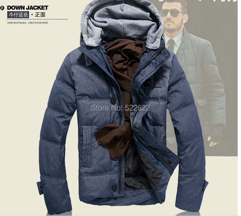 2014 Jacket Winter Men Coat 90% White Duck Long Outwear coat Hooded Real Fur Men's Parka Big Size 3XL 1608 - 5 star store