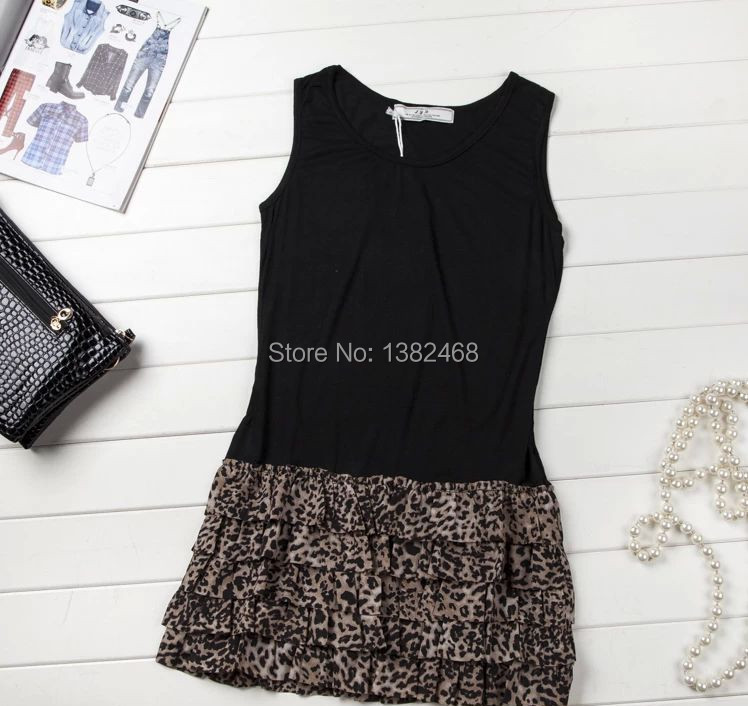 2014 Korean version of the new Women dress sexy leopard shall dress(China (Mainland))