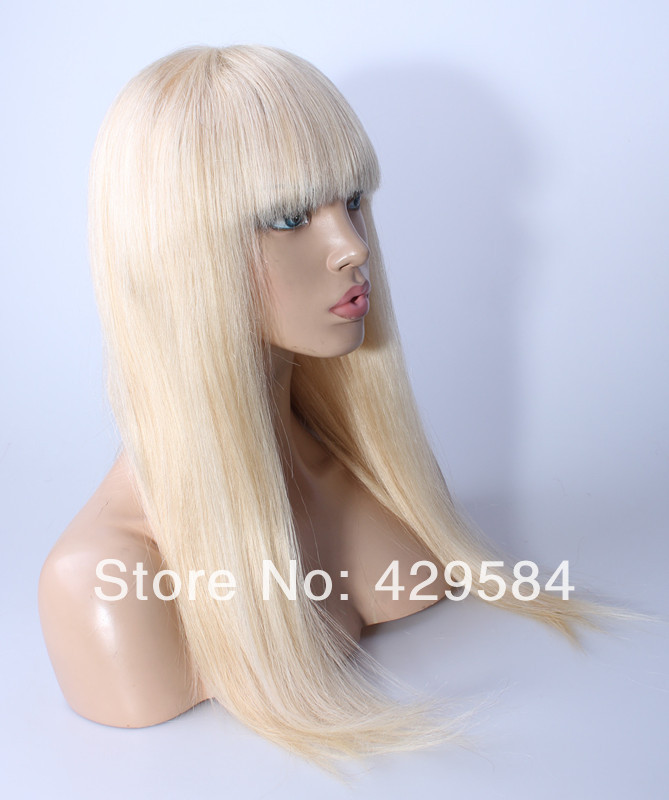 Transparent Swiss 613 Bleach Blonde Lace Wig With Full
