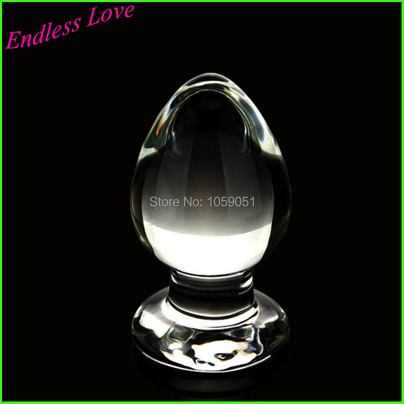 60mm Large big pyrex Glass crystal Anal butt plug with skull adornment Adult female masturbation products Sex toys for women men(China (Mainland))