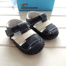 The new 2015 OMN leather sandals Small children's shoes 1609 - NV toddler shoes 3 pairs of shoes(China (Mainland))