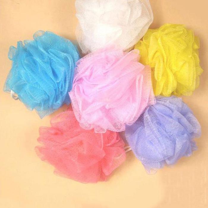 Bathroom Products Loofah Flower Bath Ball Towel Scrubber Body Cleaning Mesh Shower Wash Bath Ball/Bath Sponge/Bath Flower(China (Mainland))