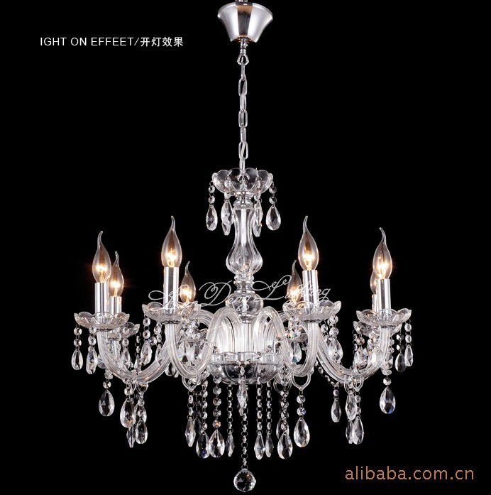 6 Bulbs European Candle luxury Crystal Chandeliers Ceiling Bedroom Living Room lights &amp; lighting Modern E14 Retail Wholesale<br><br>Aliexpress