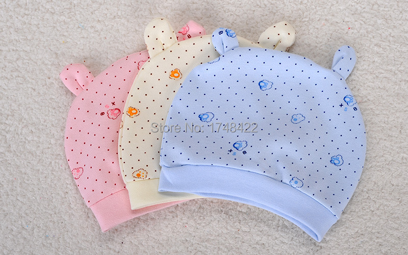 New Spring Autumn Cotton Baby Hat Girl Boy Toddler Infant Kids Caps Lovely Baby Print Hats(China (Mainland))