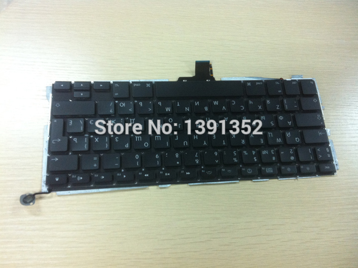 Laptop replacement parts Original Russian keyboard for Apple Macbook pro a1278 Russian keyboard layout(China (Mainland))