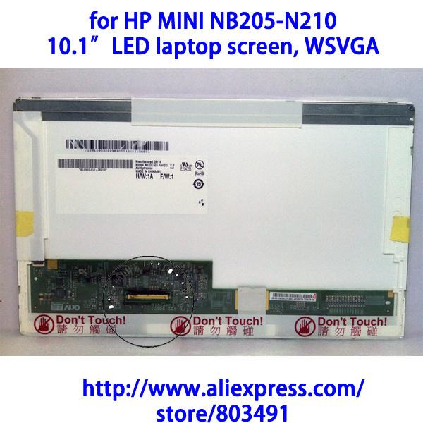 "for HP MINI NB205-N210 laptop , 10.1"" laptop LCD screen, WSVGA 1024x600 pixels(China (Mainland))"