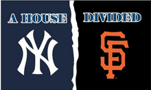 New York Yankees vs San Francisco Giants house divided Flag Polyester Banner metal grommets 3X5FT OR 2X3FT two sizes can(China (Mainland))