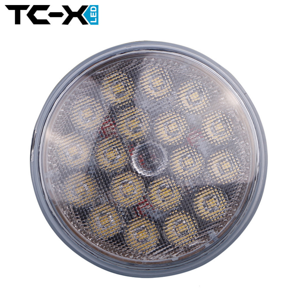 TCX 1 pcs Par36 Round LED Work Light Ultra Bright with O sram LED Chips LED Working Light Lamp 12V 24V for Offroad Tractor Truck(China (Mainland))